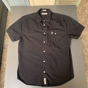 Penguin Brand Short Sleeve Button Down Shirt